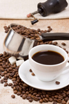 There is some concern that drinking coffee can increase the risk of heart disease and stroke in some people. The evidence shows no real risk at all -- in fact, it shows the opposite: that there may be some protection against major cardiovascular events.