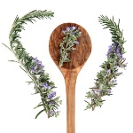 Rosemary is frequently served with fish, meat, and potatoes.