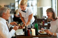 The amount of food that you get in a meal at a restaurant is typically several times that of a healthy serving size.