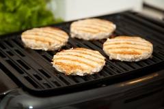 Turkey burgers are a low saturated-fat alternative to beef burgers.