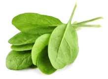 Spinach is an excellent source of vitamins A, C, and K.