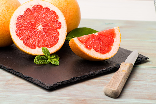 grapefruit or orange juice are more likely to develop melanoma