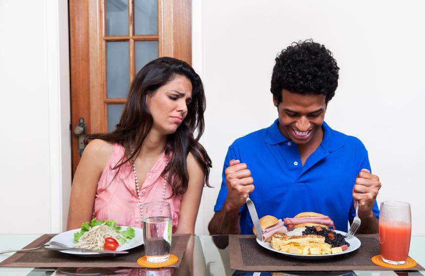 Men eat more
