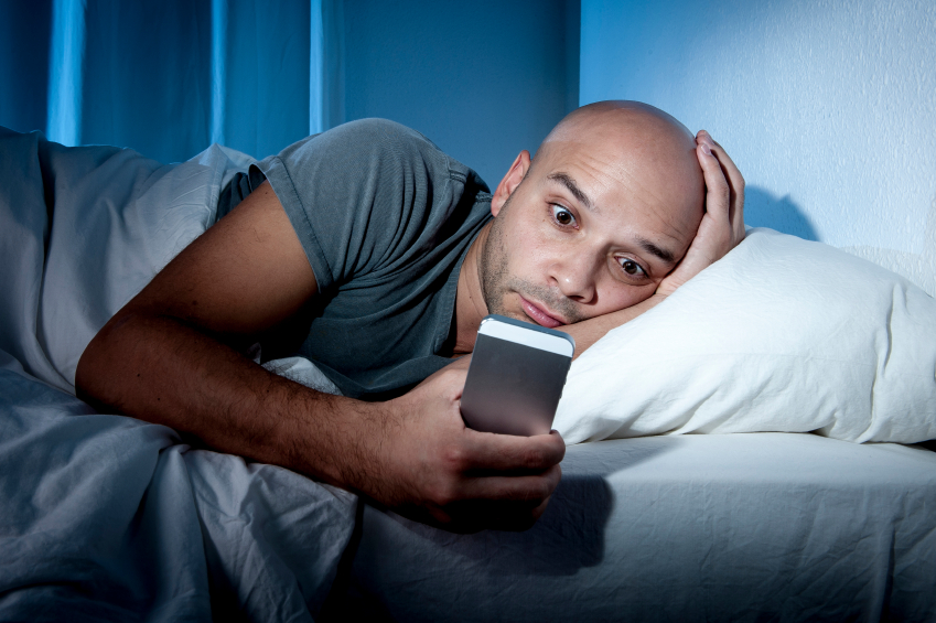 Sleepless nights and smartphones