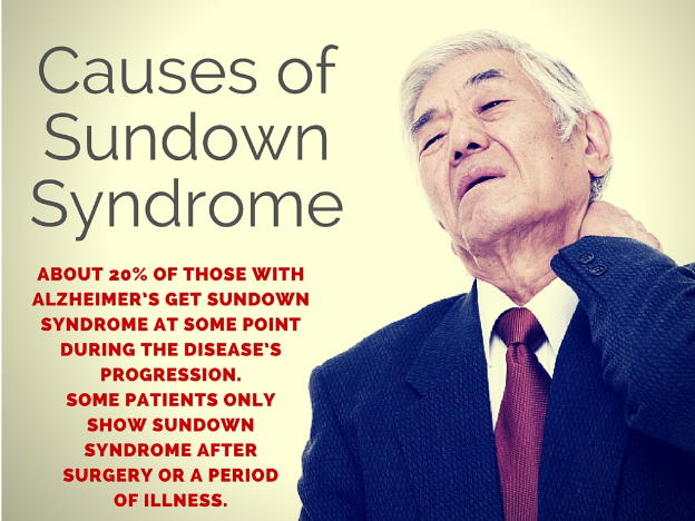 causes of sundown syndrome