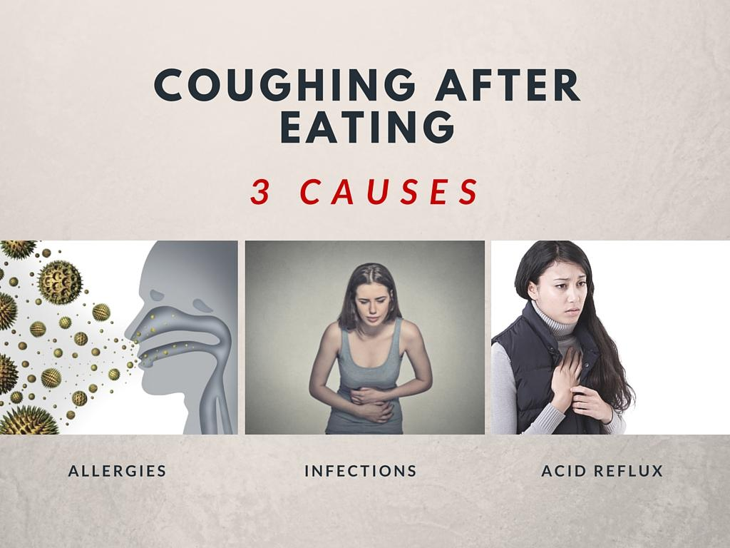 causes of coughing after eating