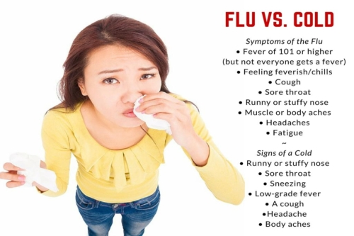 flu vs cold symptoms