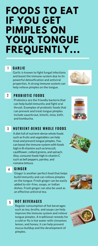 foods to eat for pimple on tongue