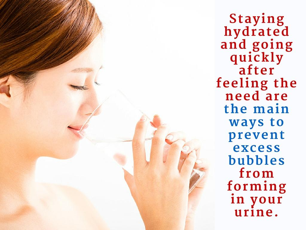 treat urine bubbles