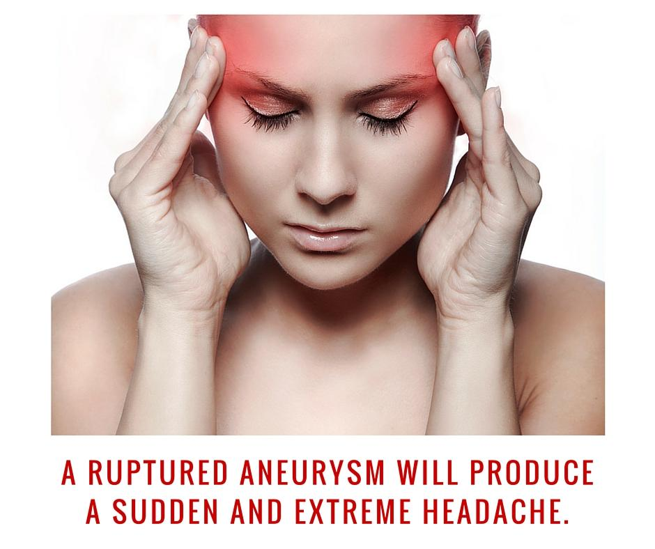 symptoms of brain aneurysm, Human body