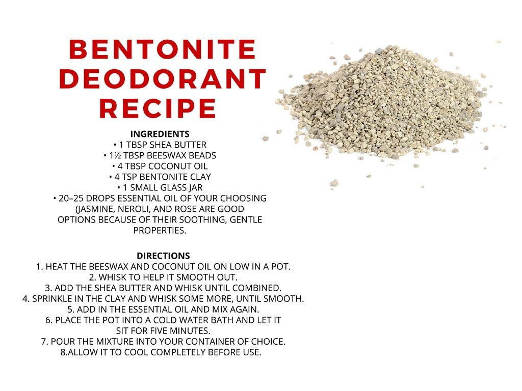 bentonite deodorant recipe