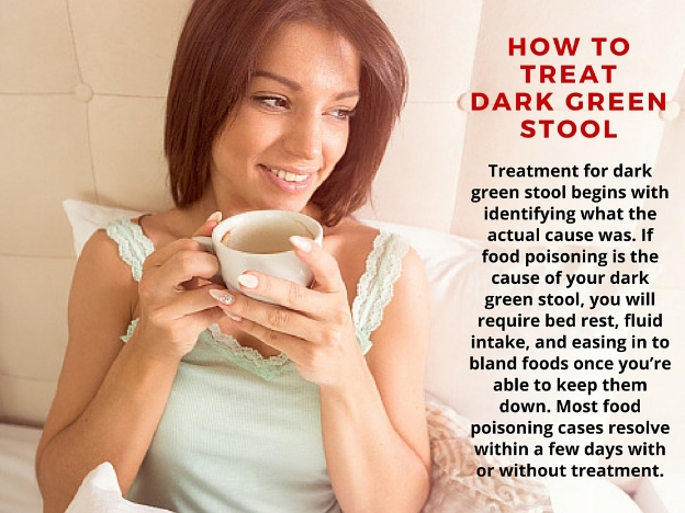 how to treat dark green stool