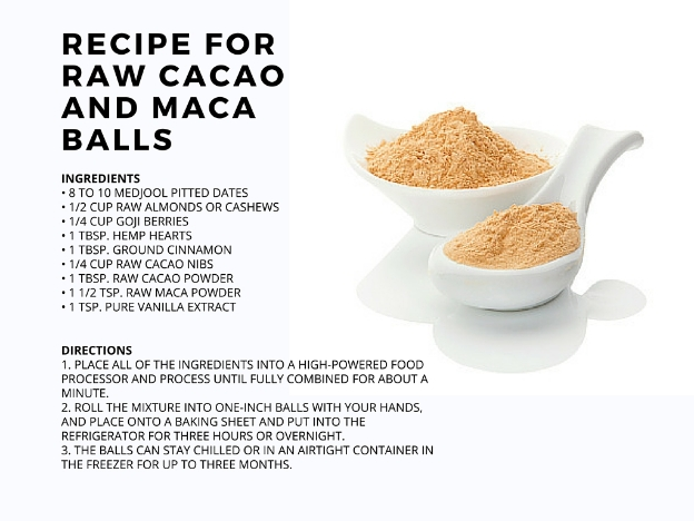 recipe for cacao and maca balls
