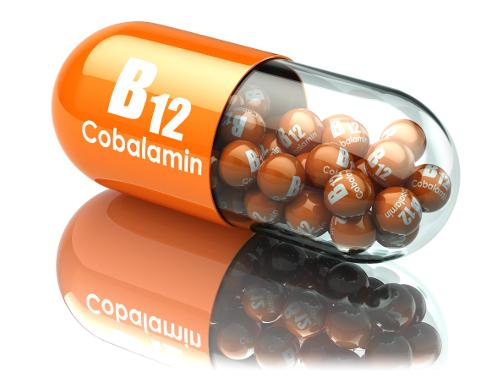 Vitamin B12 capsule.