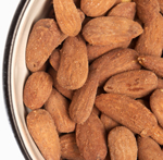 "Researchers have found that eating more  almonds helps prevent type 2 diabetes and heart disease. It  does so by improving your insulin sensitivity and lowering  levels of LDL (""bad"") cholesterol."