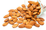 Almonds taken at mealtime could reduce after-mealtime glycemia and reduce the risk for type 2 diabetes. Other health benefits of almonds.