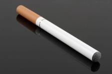 E-cigarette resembling a tobacco cigarette.