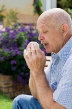 Allergy symptoms usually involve the mucous membranes of the eyes, nose, throat, and upper respiratory track.