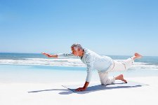 Yoga is a type of exercise particularly suited to the needs of an older adult