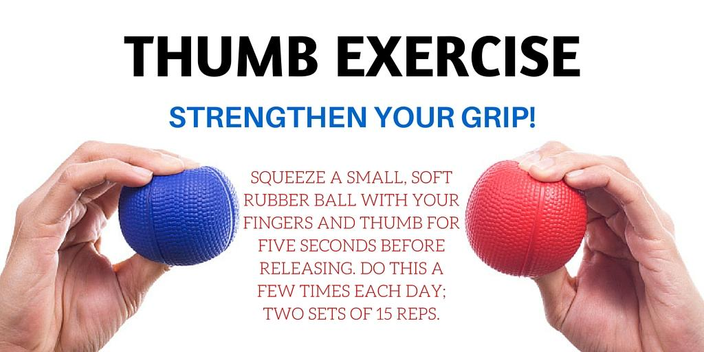 Thumb Exercise Infographic