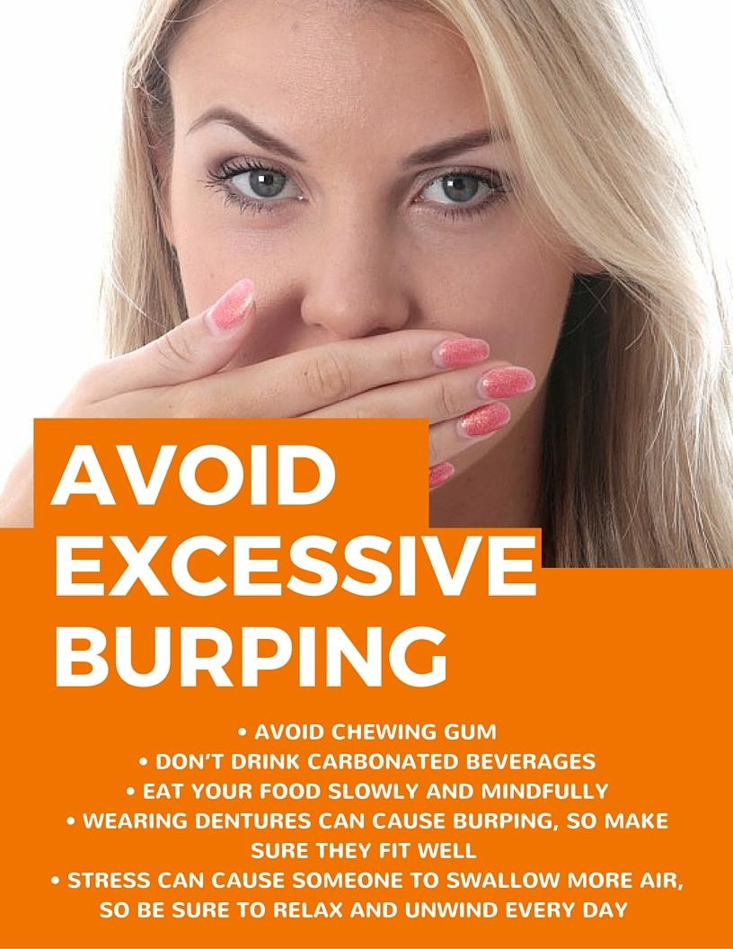 Tips to avoid excessive burping