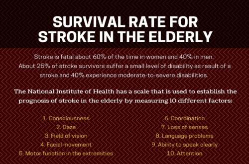 survival rate of stroke in elderly