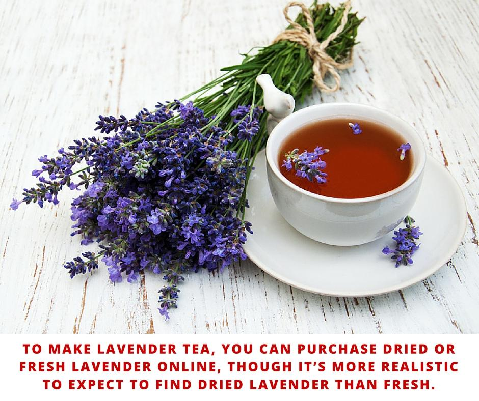 to make lavender tea