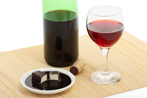 Chocolate Red Wine Truffles